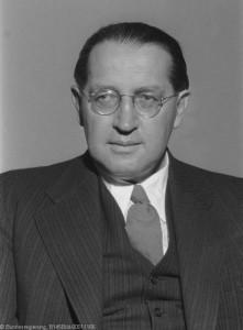 BM Thomas Dehler / offizielles Porträt 1953
